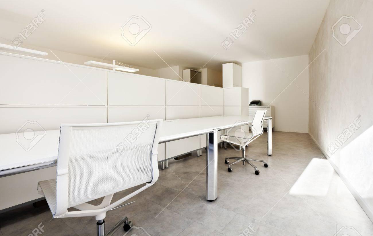 Modernen Büro-Innenarchitektur, Weißen Möbeln Lizenzfreie Fotos ...