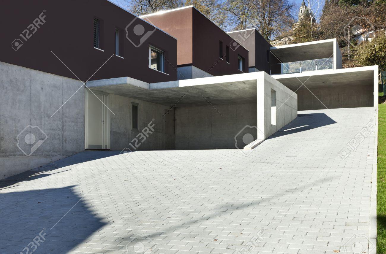 Angesichts Der Schönen Modernen Häusern, Im Freien Lizenzfreie Fotos ...