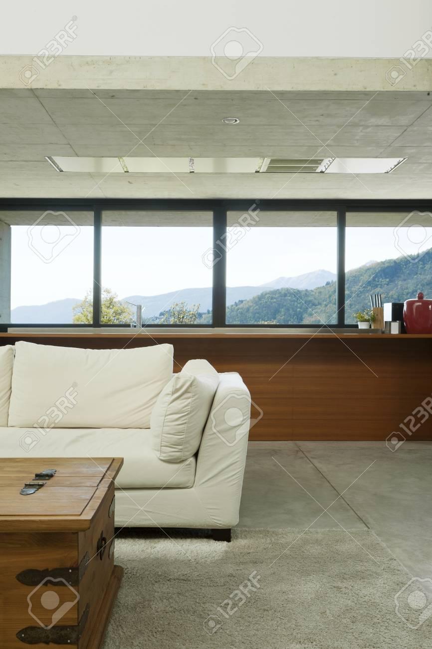 modern house, living room, interior Stock Photo - 13889111