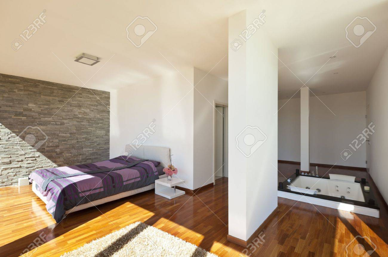 beautiful house, modern style, bedroom view Stock Photo - 18994225