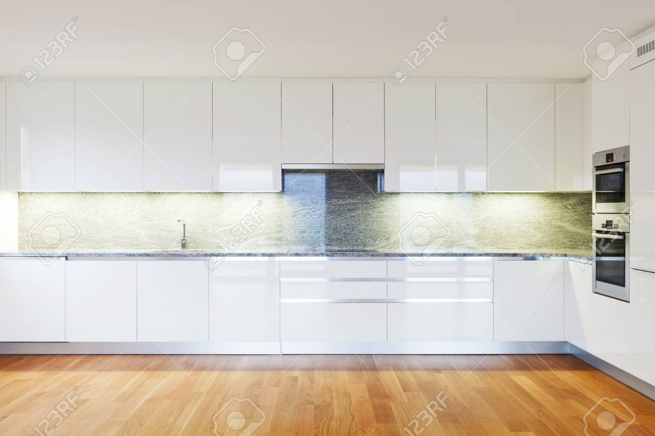 interior modern empty flat, apartment nobody inside Stock Photo - 19144983