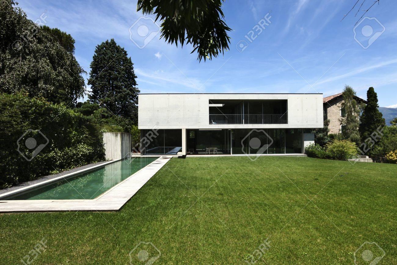 Modernes haus mit pool  Outdoor, Modernes Haus Mit Pool Lizenzfreie Fotos, Bilder Und ...