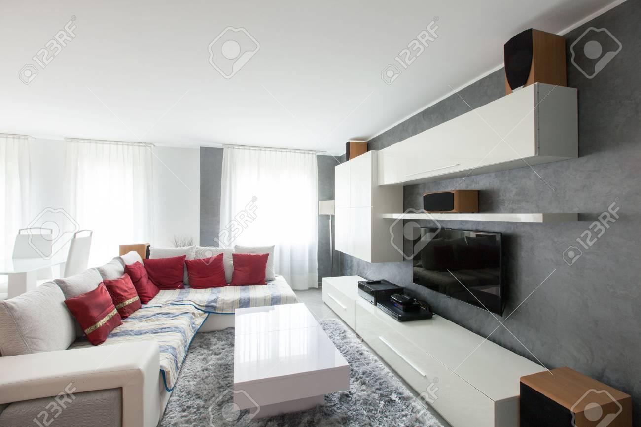 Moderne wohnzimmer innenraum lizenzfreie fotos, bilder und stock ...