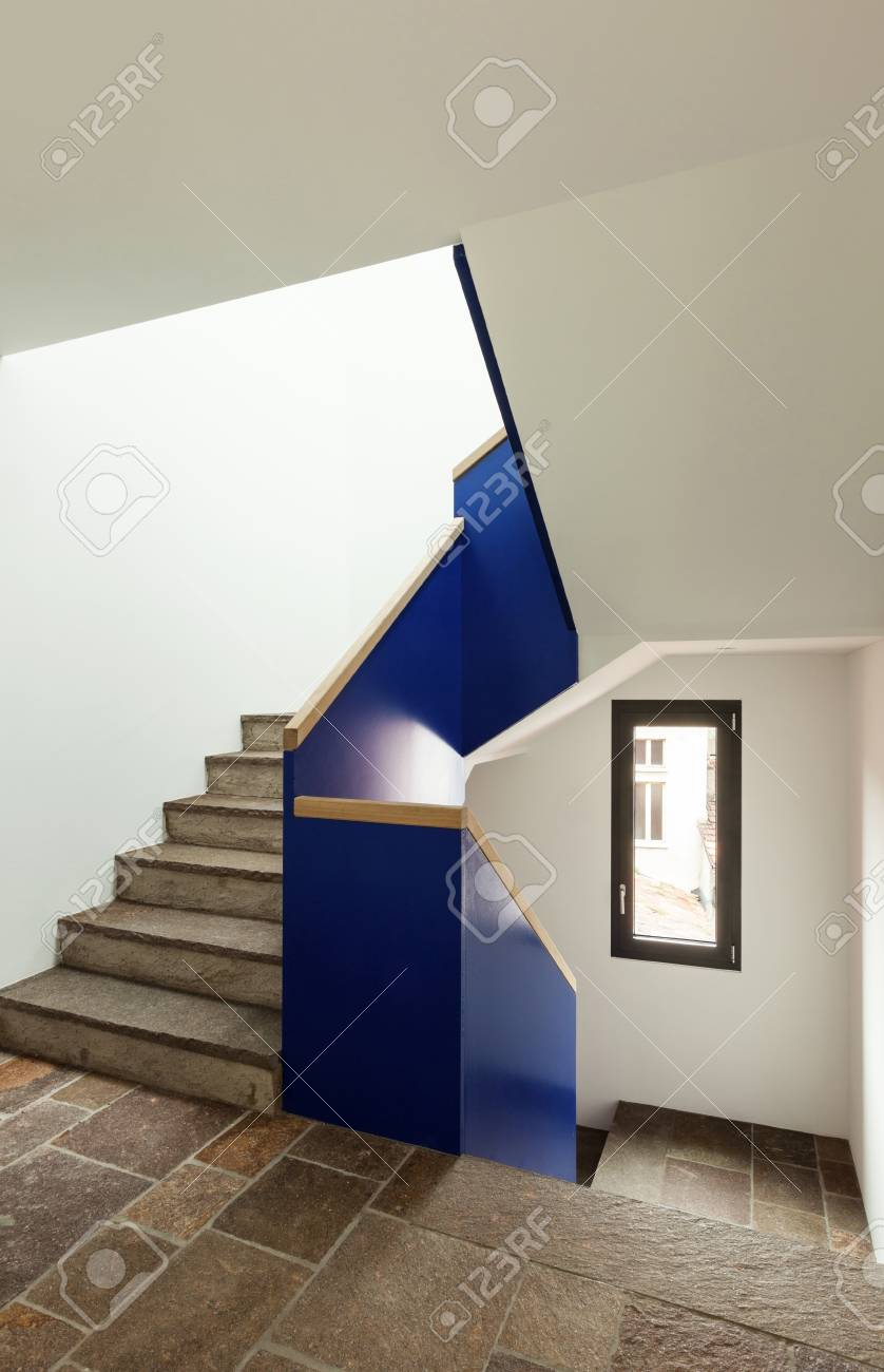 interior, stone stairs of a modern building Stock Photo - 22805801