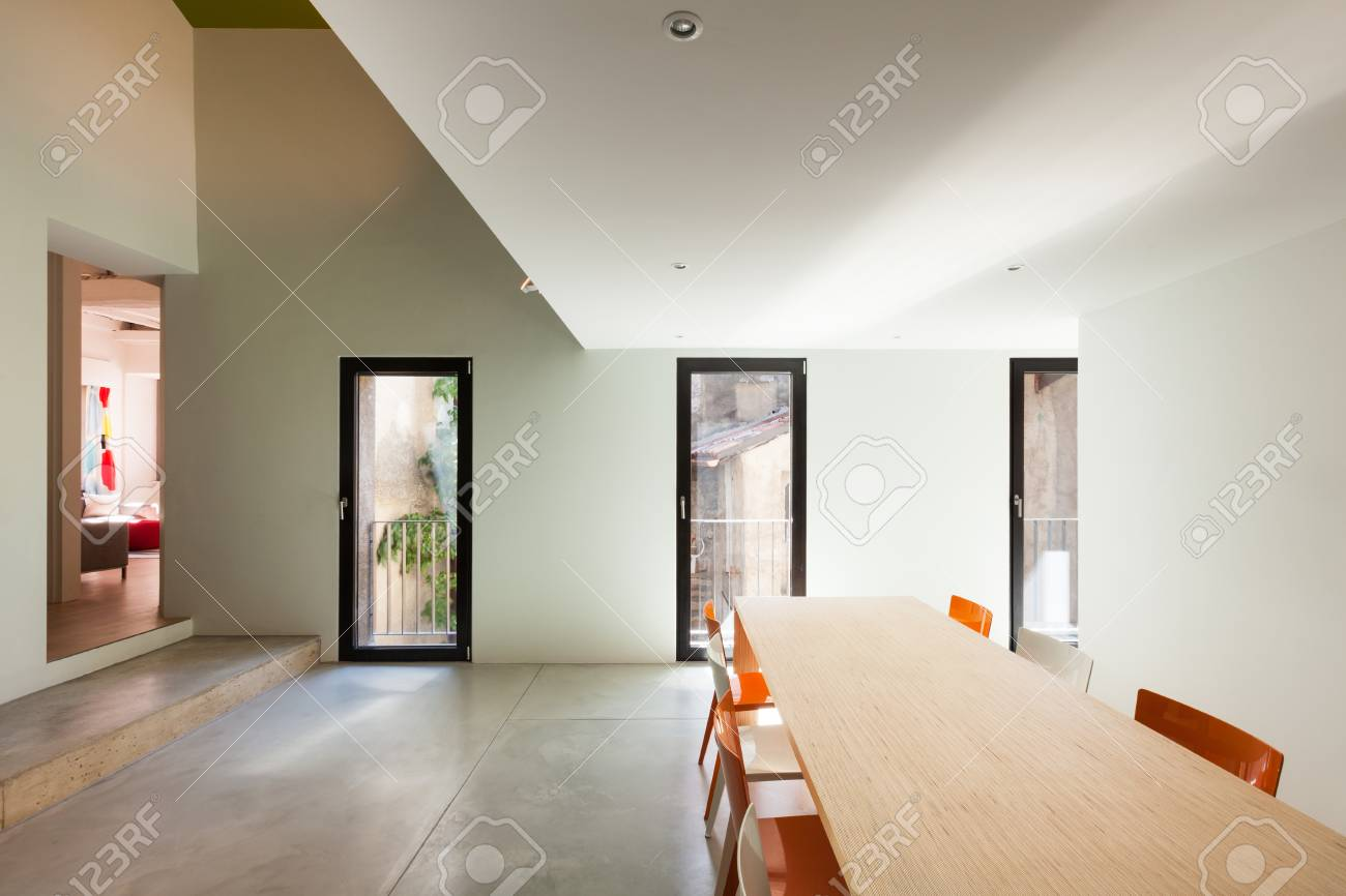 Beautiful modern house, view dining room Stock Photo - 22805856