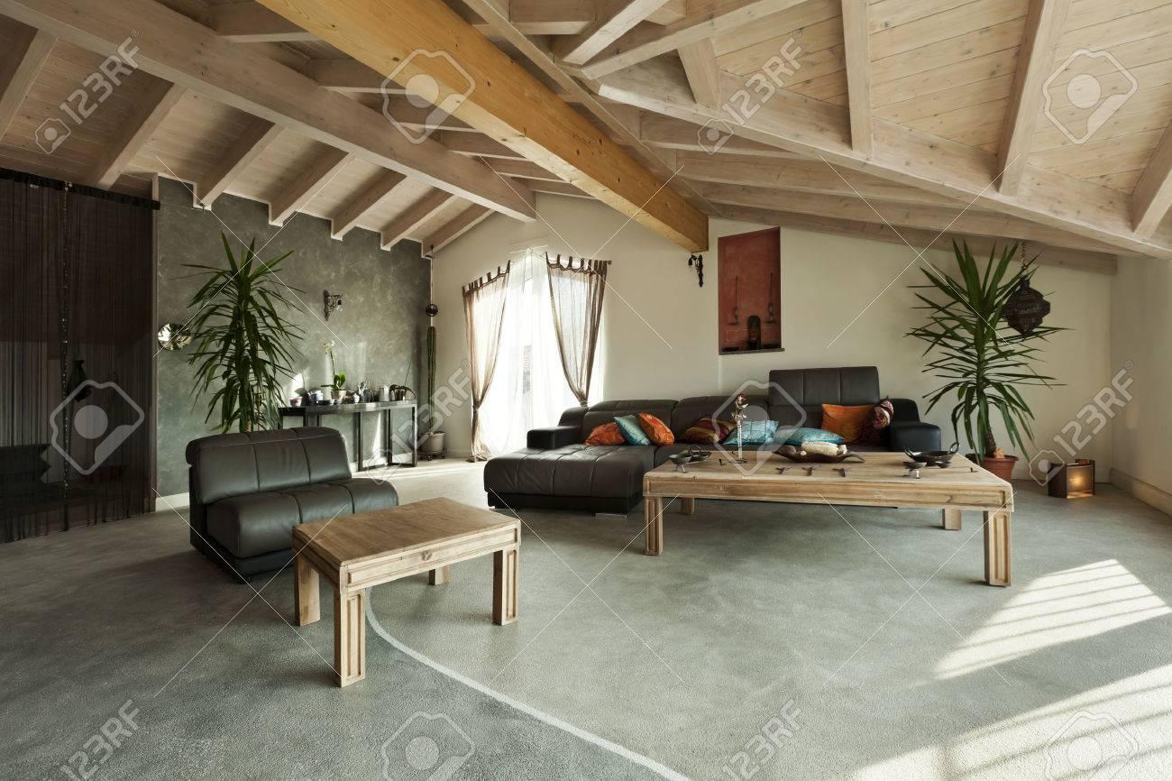 interior new loft, ethnic furniture, living room Stock Photo - 23448723