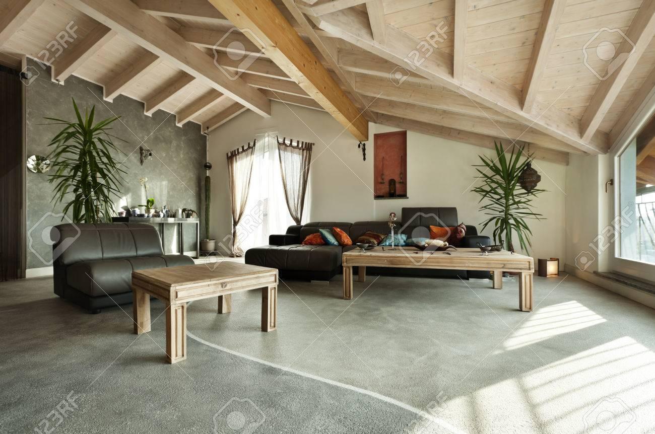 interior new loft, ethnic furniture, living room Stock Photo - 23448724