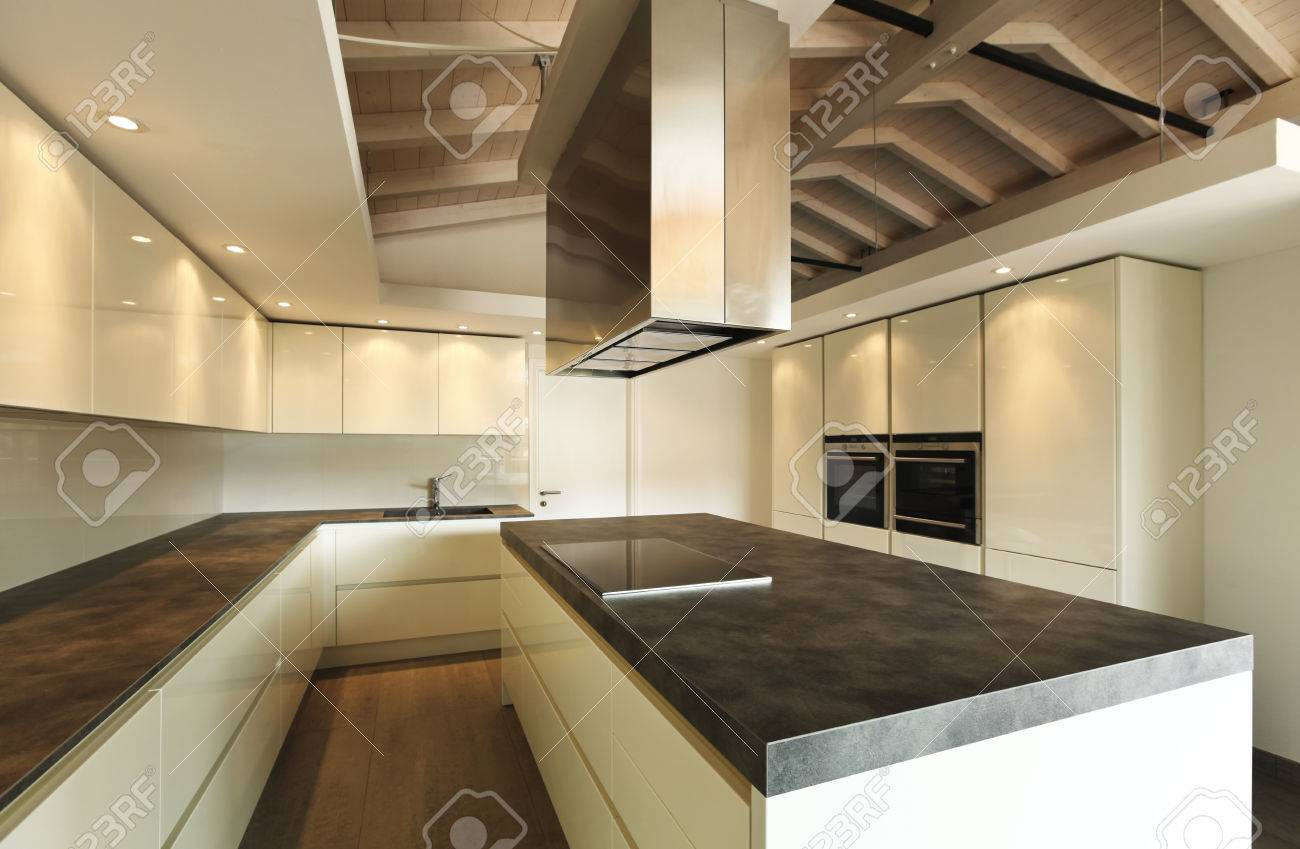Attic Kitchen Elegant Kitchen In The Attic Stock Photo Picture And Royalty Free