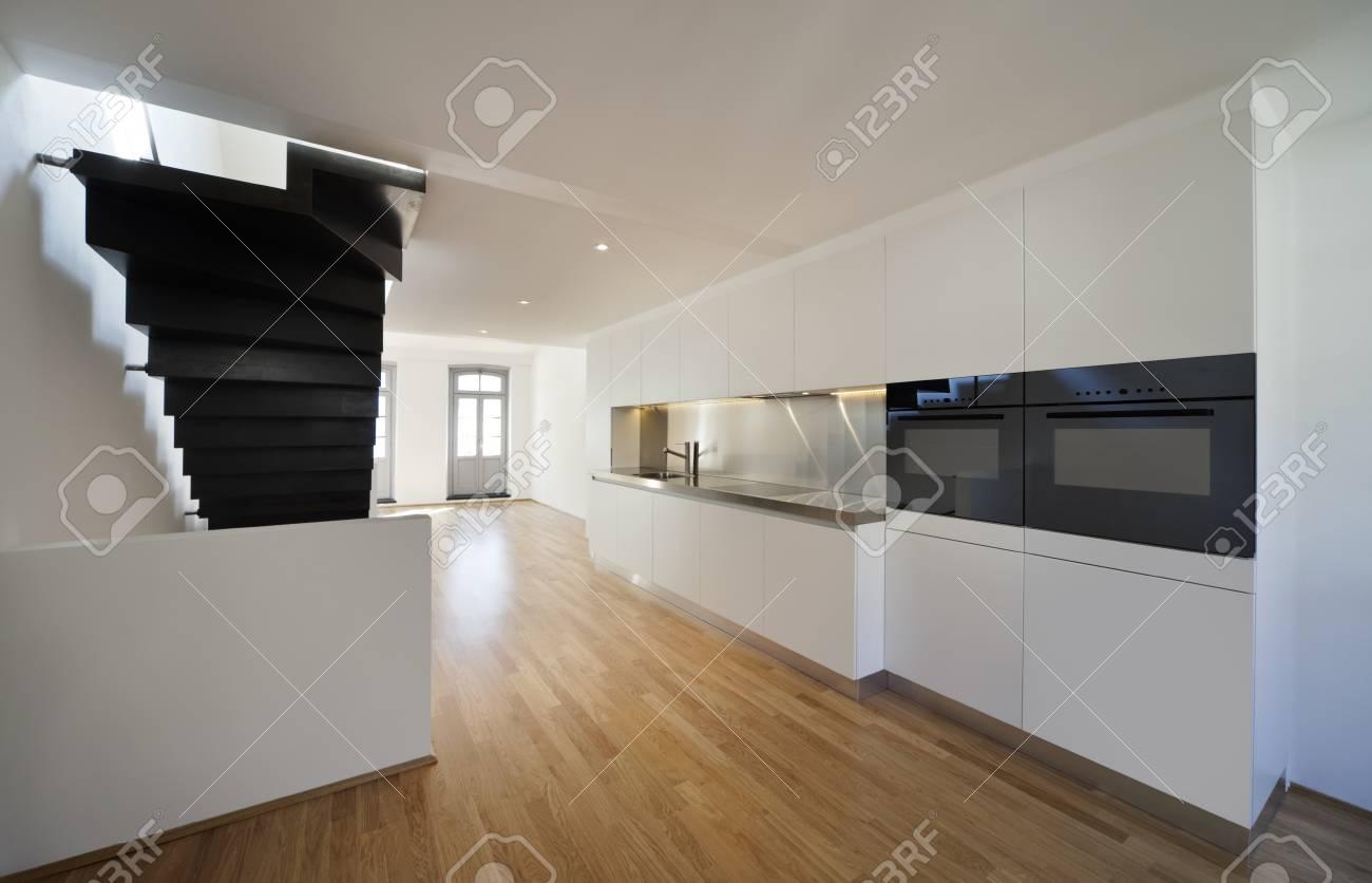 Arquitectura de diseño moderno, cocina