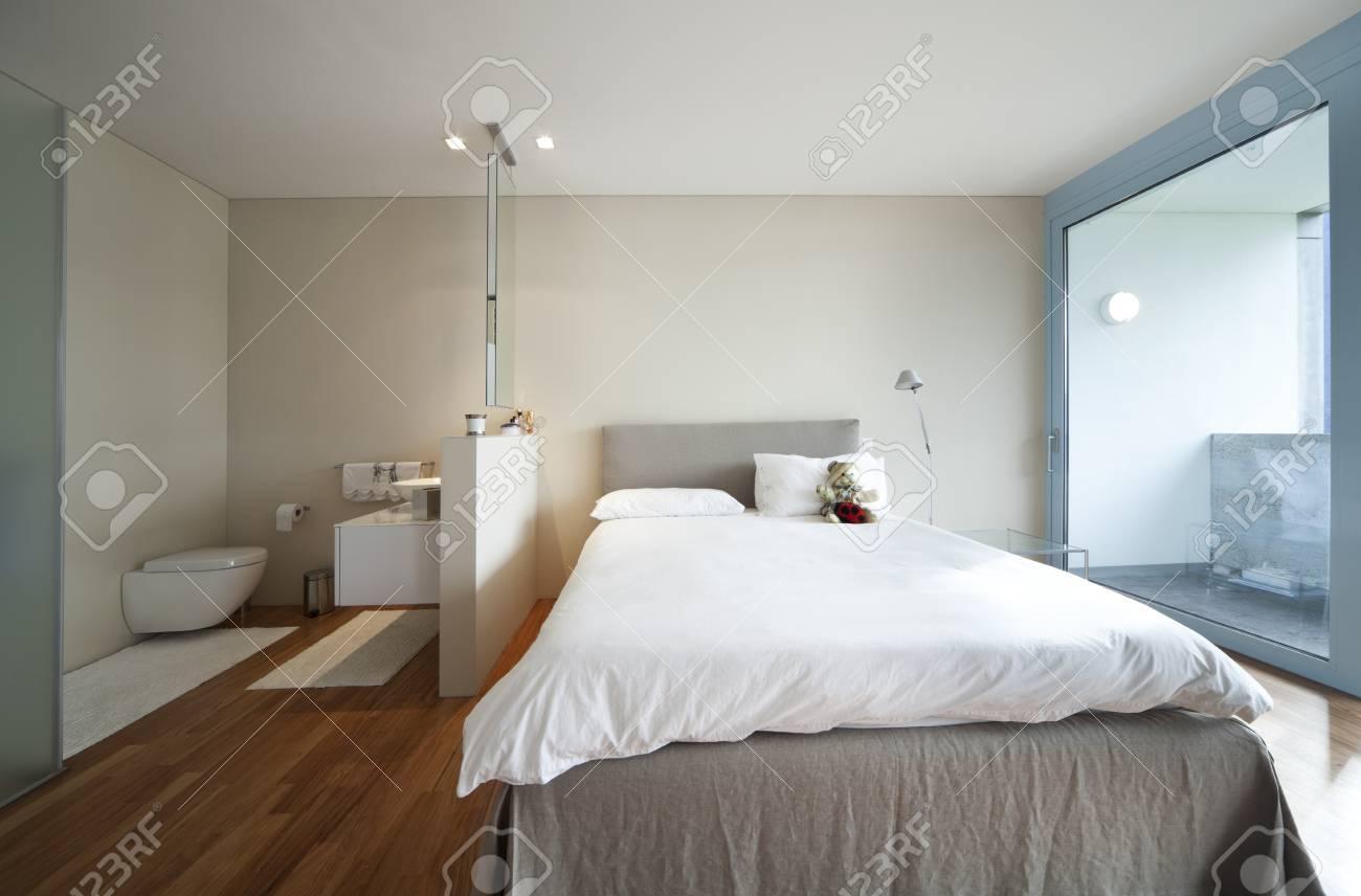 Maison contemporaine, chambre à coucher