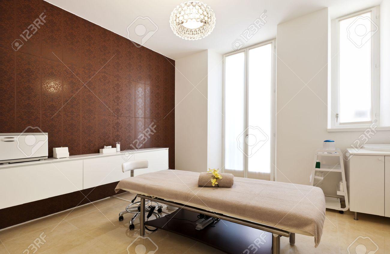 Interior Of Massage Room In A Spa Salon Stock Photo Picture And