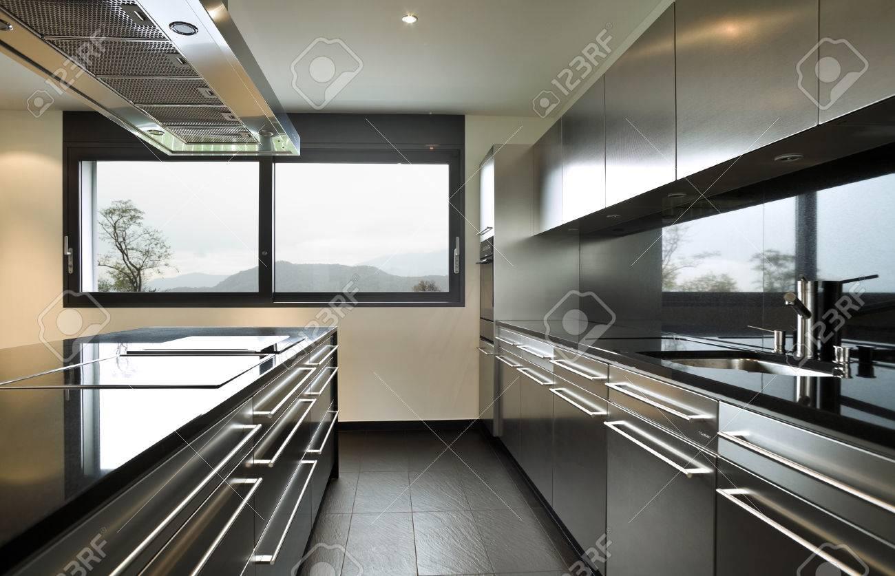 Intérieur maison moderne, cuisine