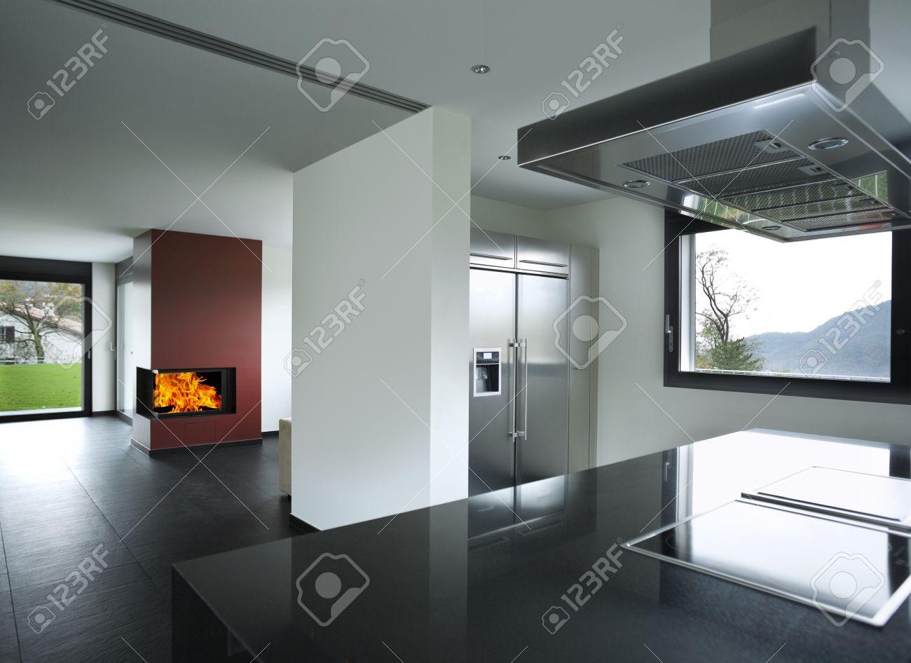 Intérieur Maison Moderne, Cuisine Banque D\'Images Et Photos Libres ...