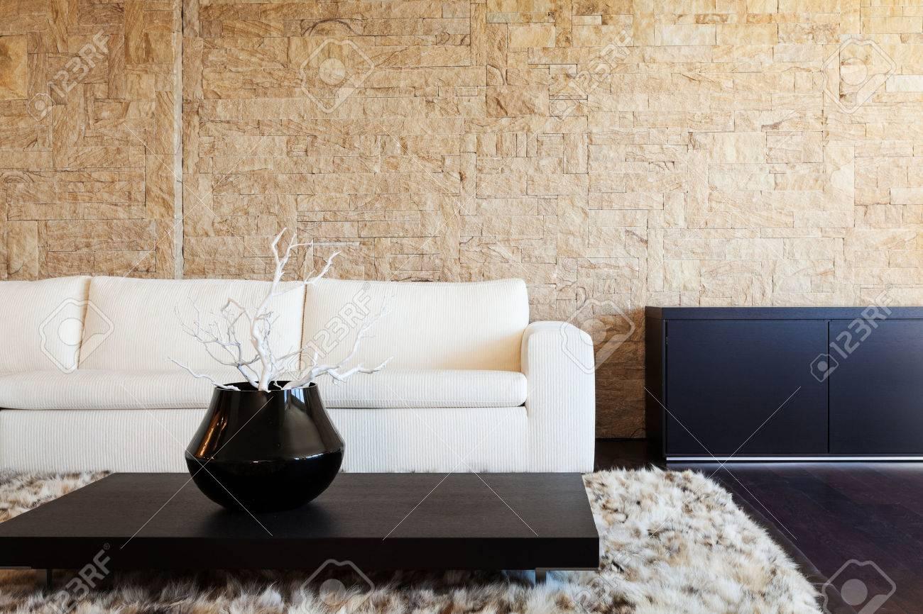 Interieur Luxus Wohnung, Schönes Wohnzimmer Standard Bild   26556086