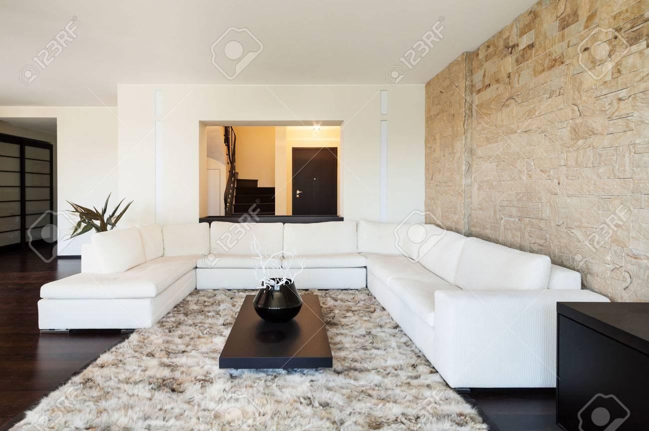 Interior Luxury Apartment, Beautiful Living Room Stock Photo ...