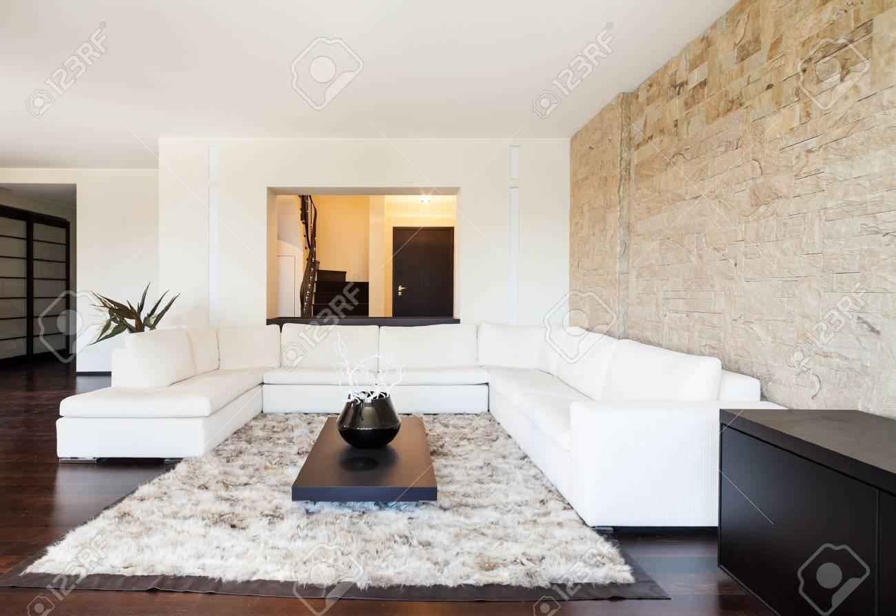 Interieur Luxus Wohnung, Schönes Wohnzimmer Standard Bild   26556100