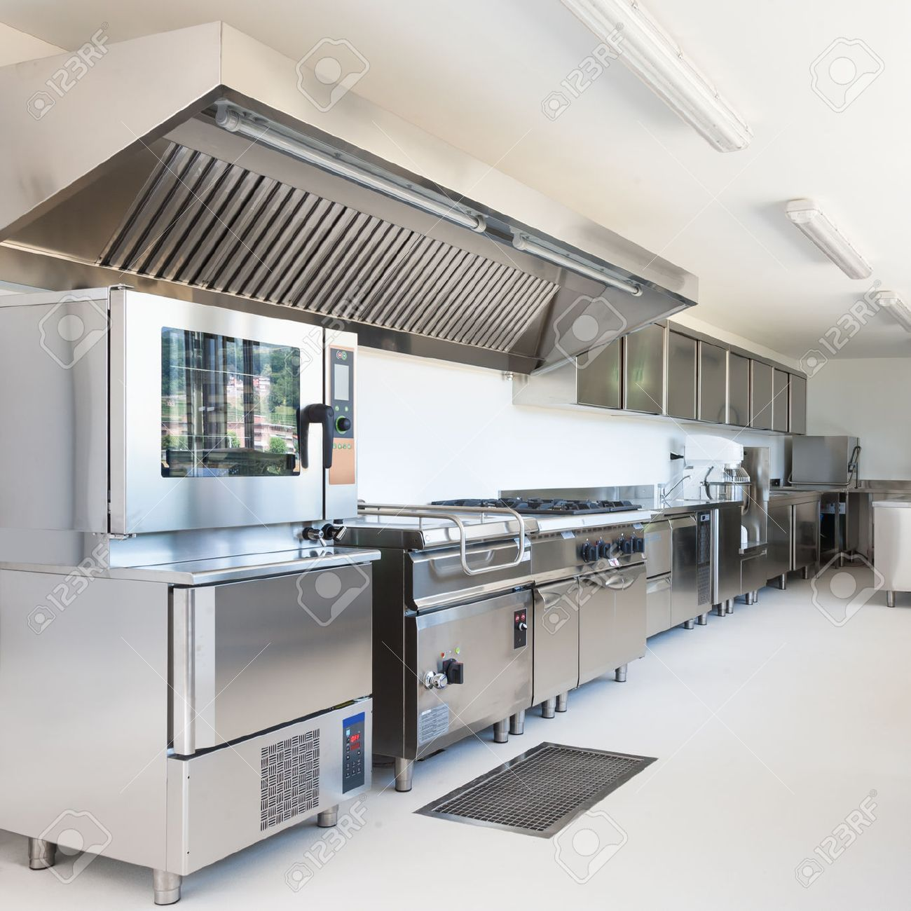 professional kitchen in modern building stock photo picture and