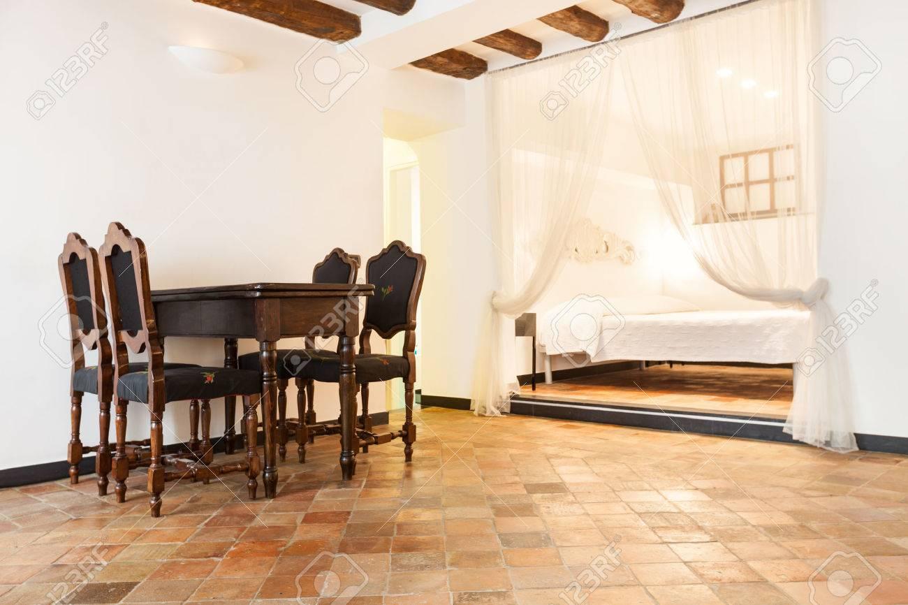 Schone Wohnung Klassisch Innen Terrakotta Boden Lizenzfreie Fotos