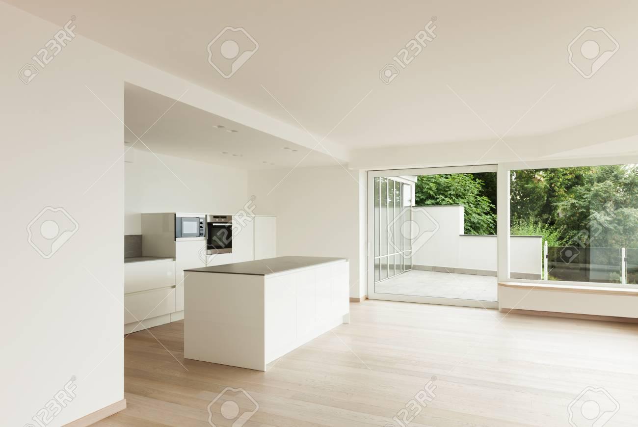 Bel Appartement Neuf, Intérieur, Cuisine Moderne Banque D\'Images Et ...