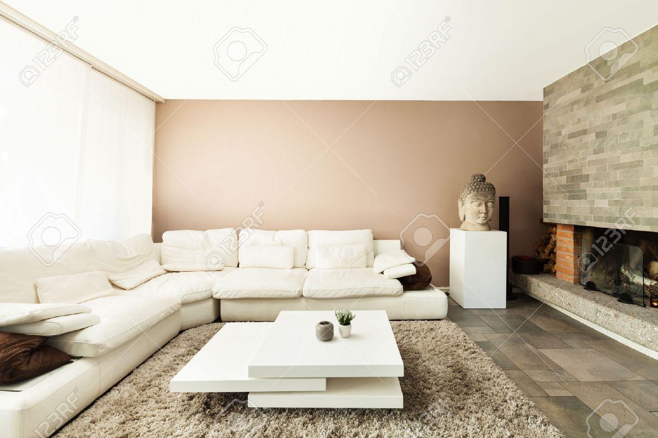 Interior, Beautiful Apartment, Luxurious Living Room Stock Photo ...
