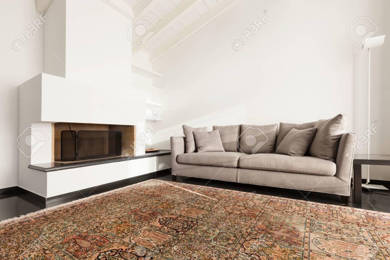 Interieur Komfortable Dachboden Moderne Mobel Wohnzimmer