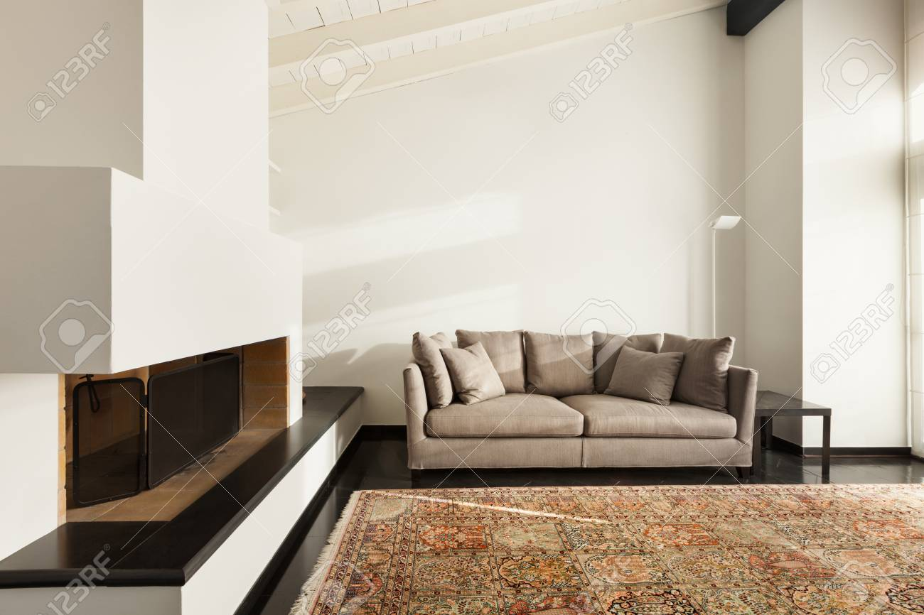 Interior, Cómodo Loft, Muebles Modernos, Cuarto De Estar Fotos ...