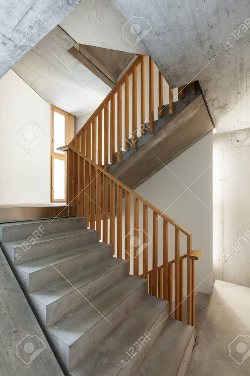 Architektur Modernes Design, Innen Hause, Treppenhaus Lizenzfreie ...