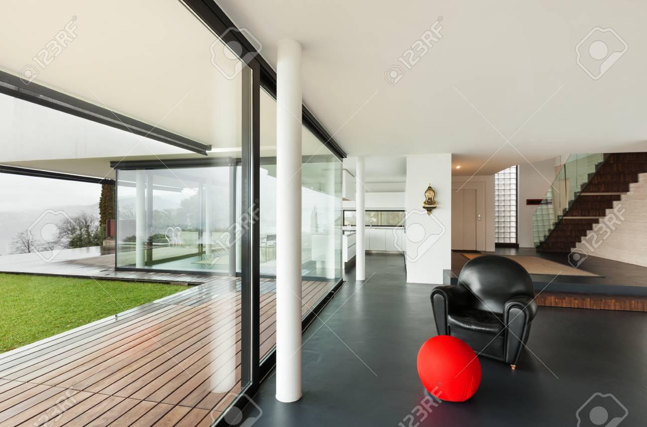 Innenausstattung Wohnzimmer   Architektur Schone Innenausstattung Einer Modernen Villa