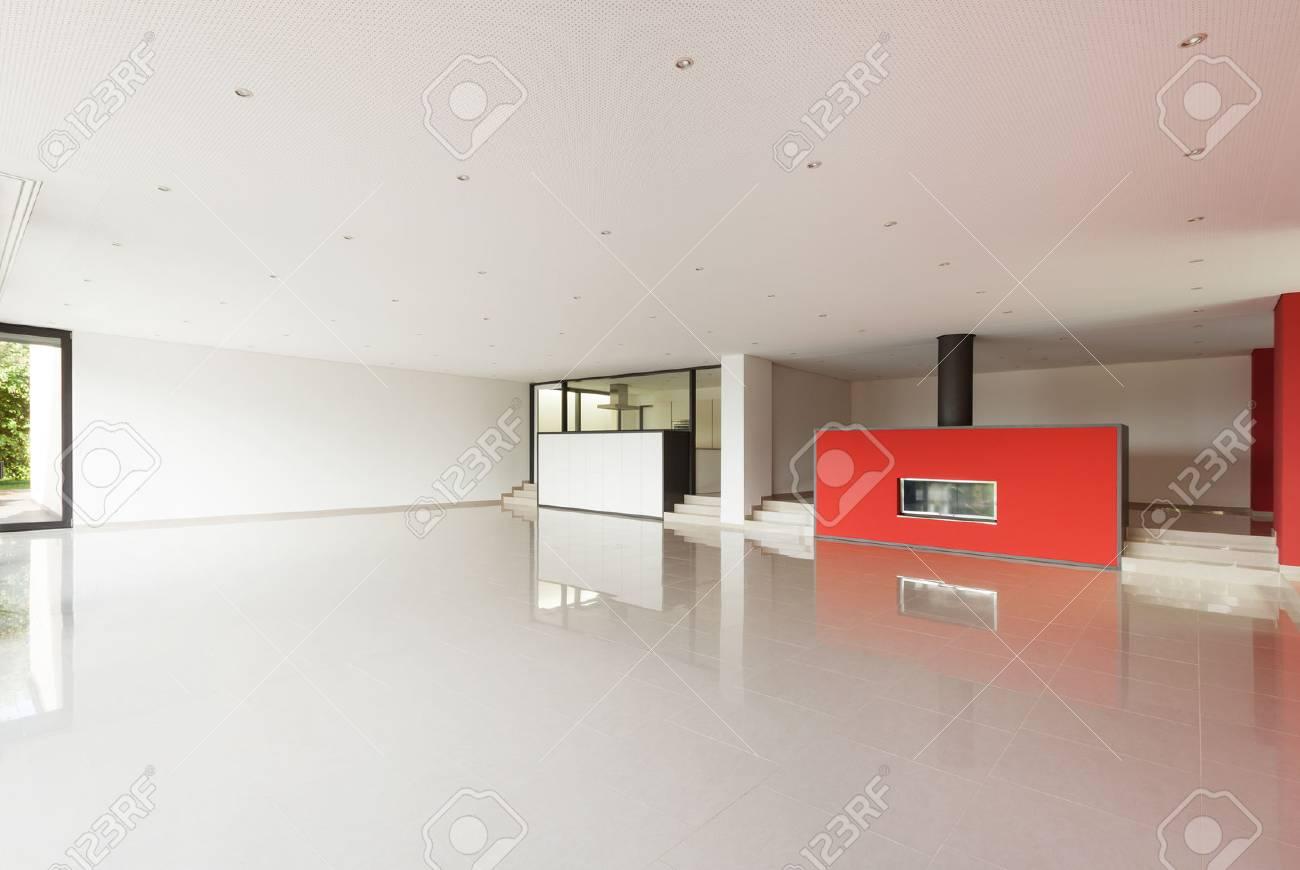 Immagini Stock - L\'appartamento Villa Moderna, Ampio Soggiorno ...
