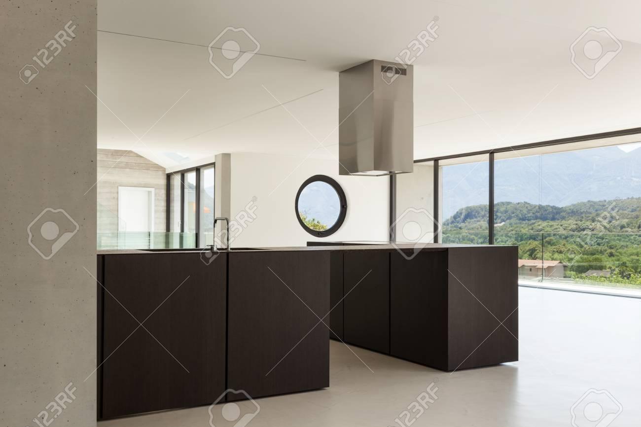 Haus, Interieur, Moderne Architektur, Küche Ansicht Lizenzfreie ...