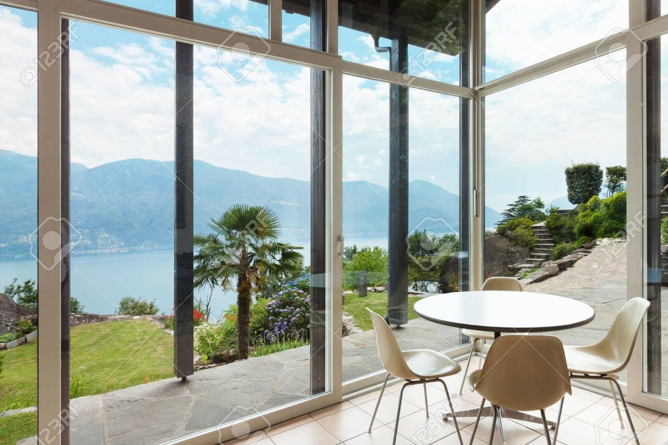 Mountain House; Modern rchitecture; Interior; Veranda Stock Photo ... - ^