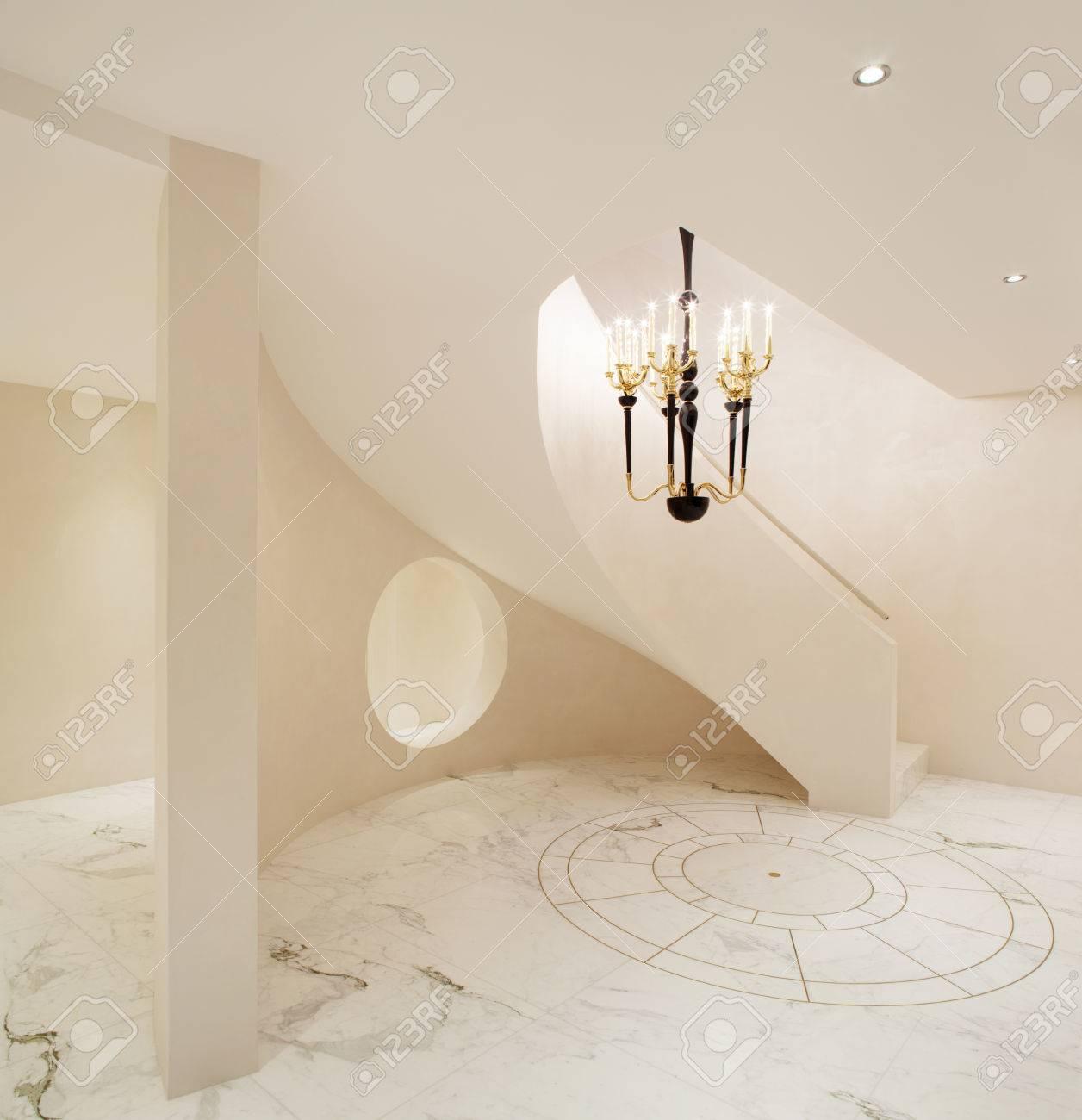Entrée intérieure maison moderne