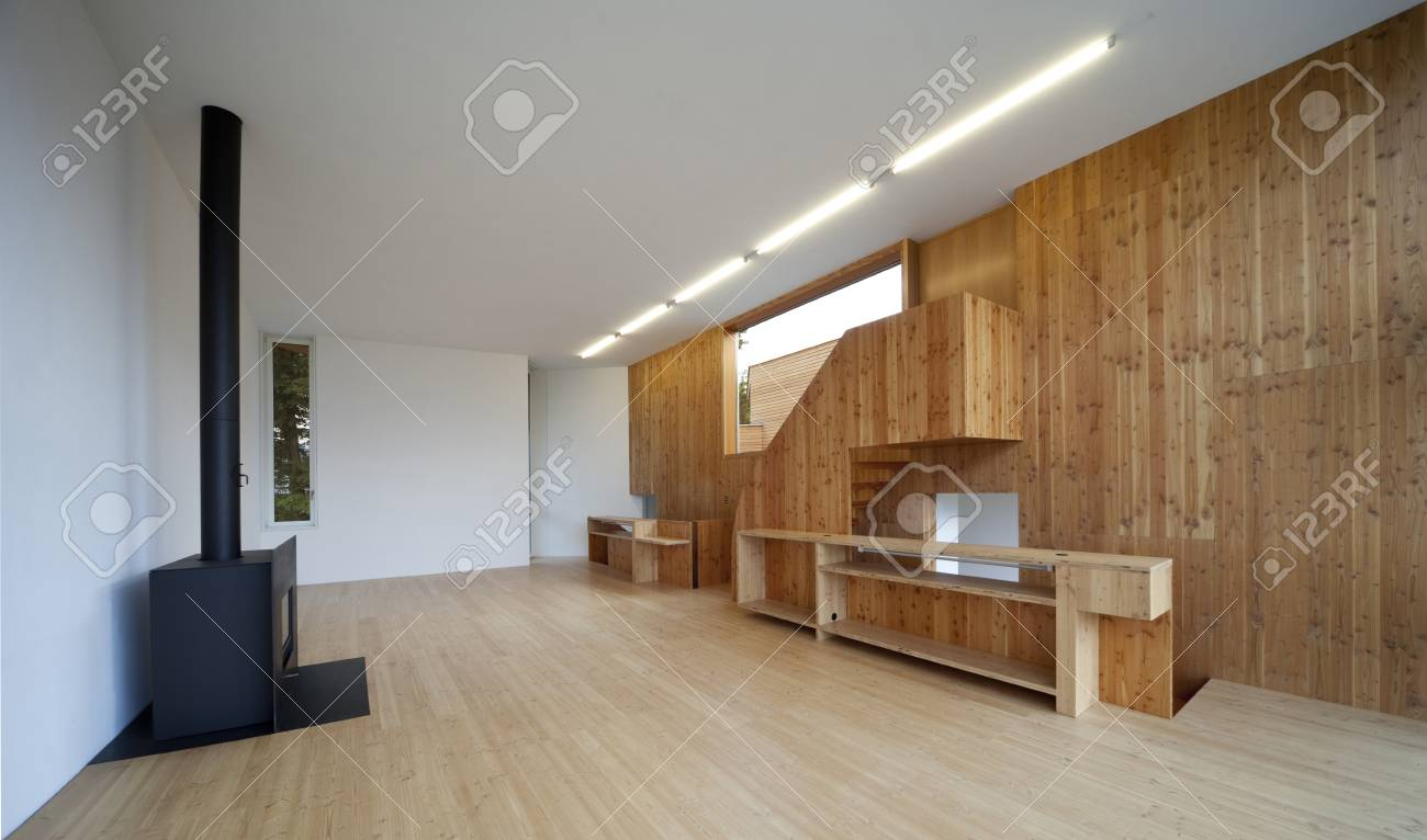 Moderne salon bois