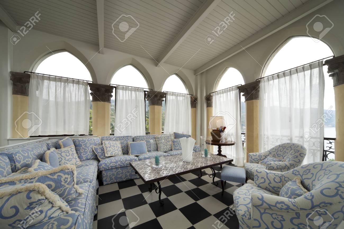 Arredamento casa soggiorno interno foto royalty free immagini