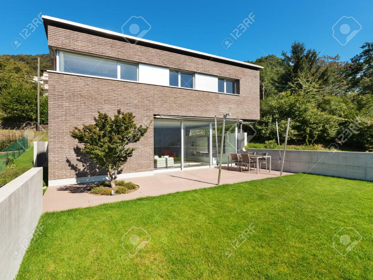Architektur Modernes Design, Schönes Haus, Im Freien Lizenzfreie ...