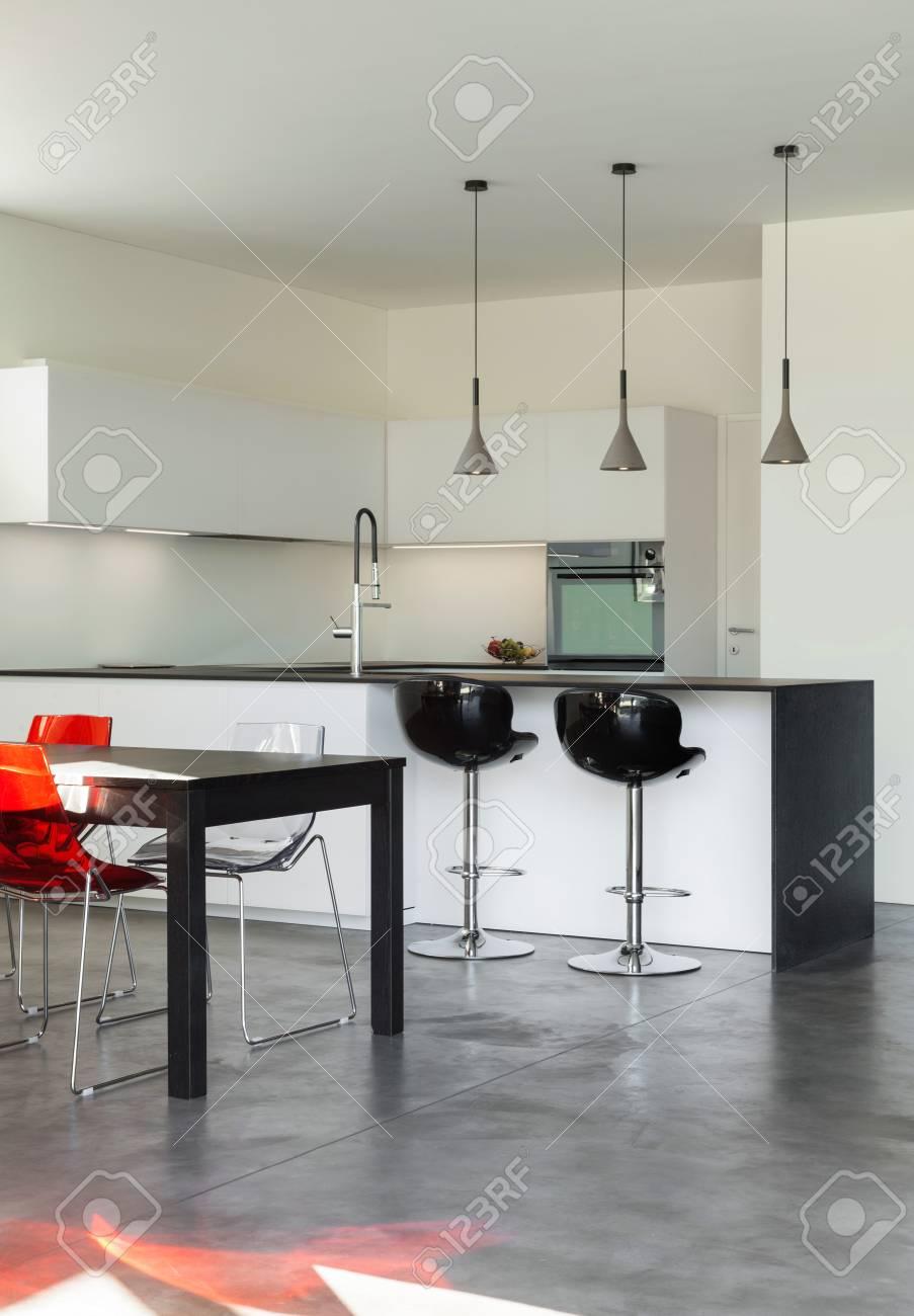 Architecture Modern Design, Interior, Domestic Kitchen Stock Photo    38293919