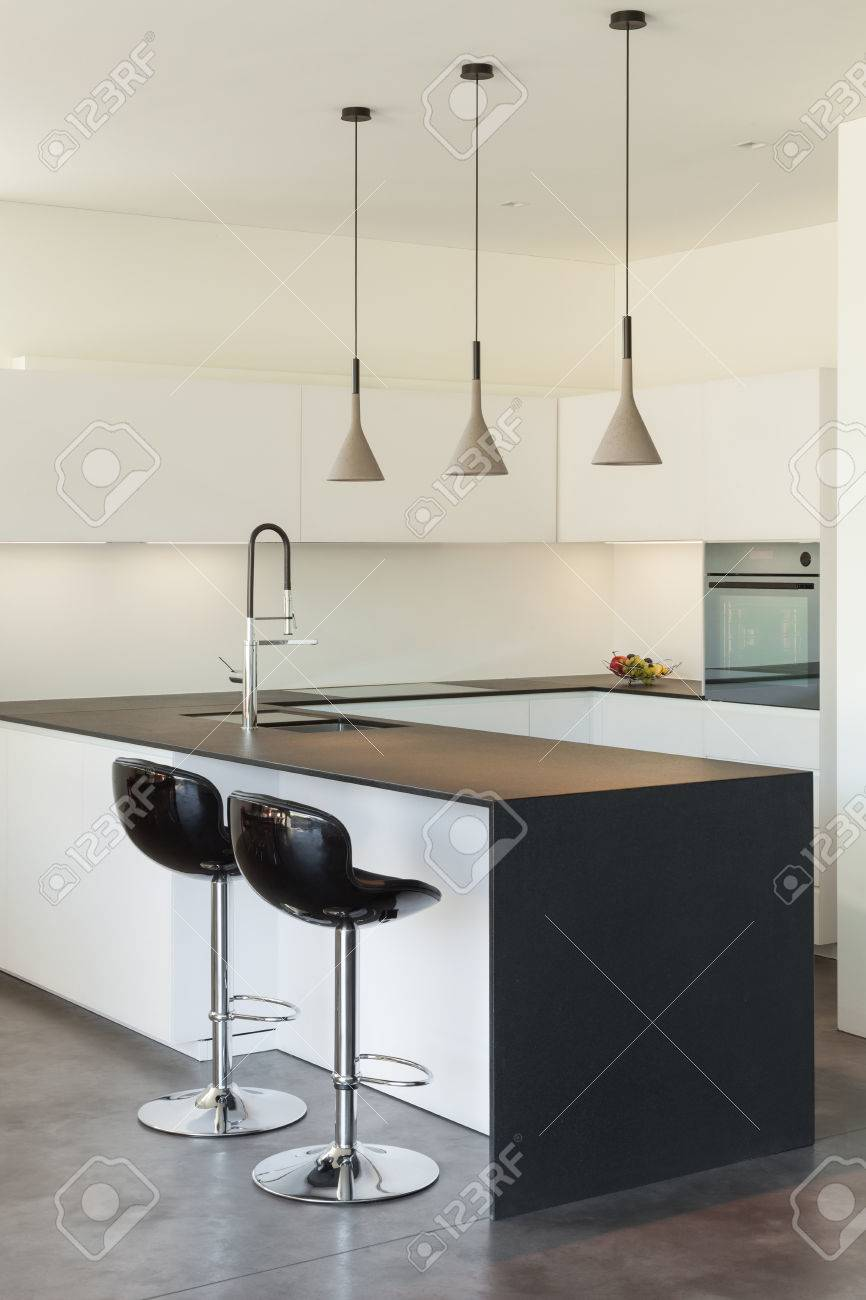 Architecture Modern Design, Interior, Domestic Kitchen Stock Photo    38293921
