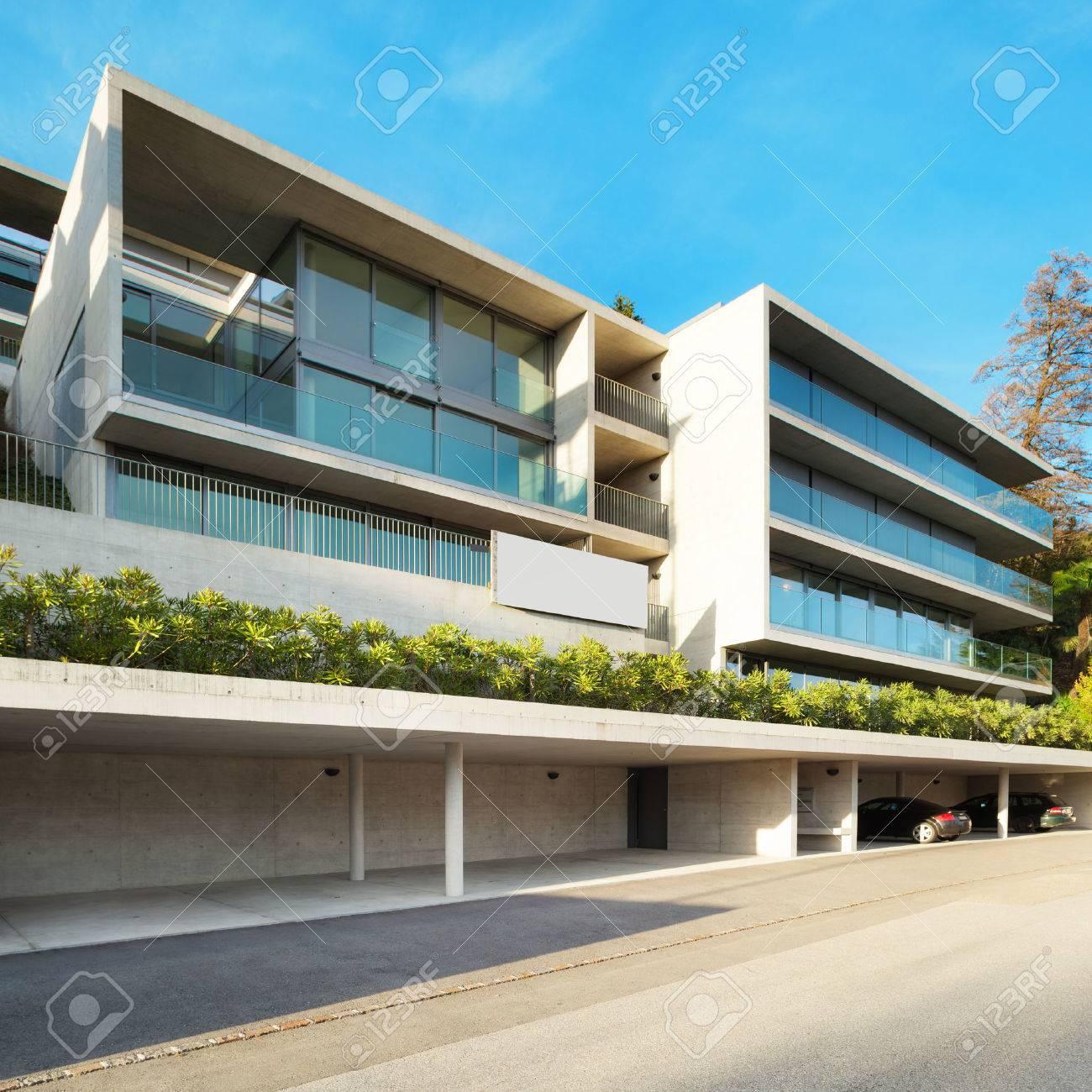 Moderne Architektur Gebaude Blick Von Aussen Lizenzfreie Fotos