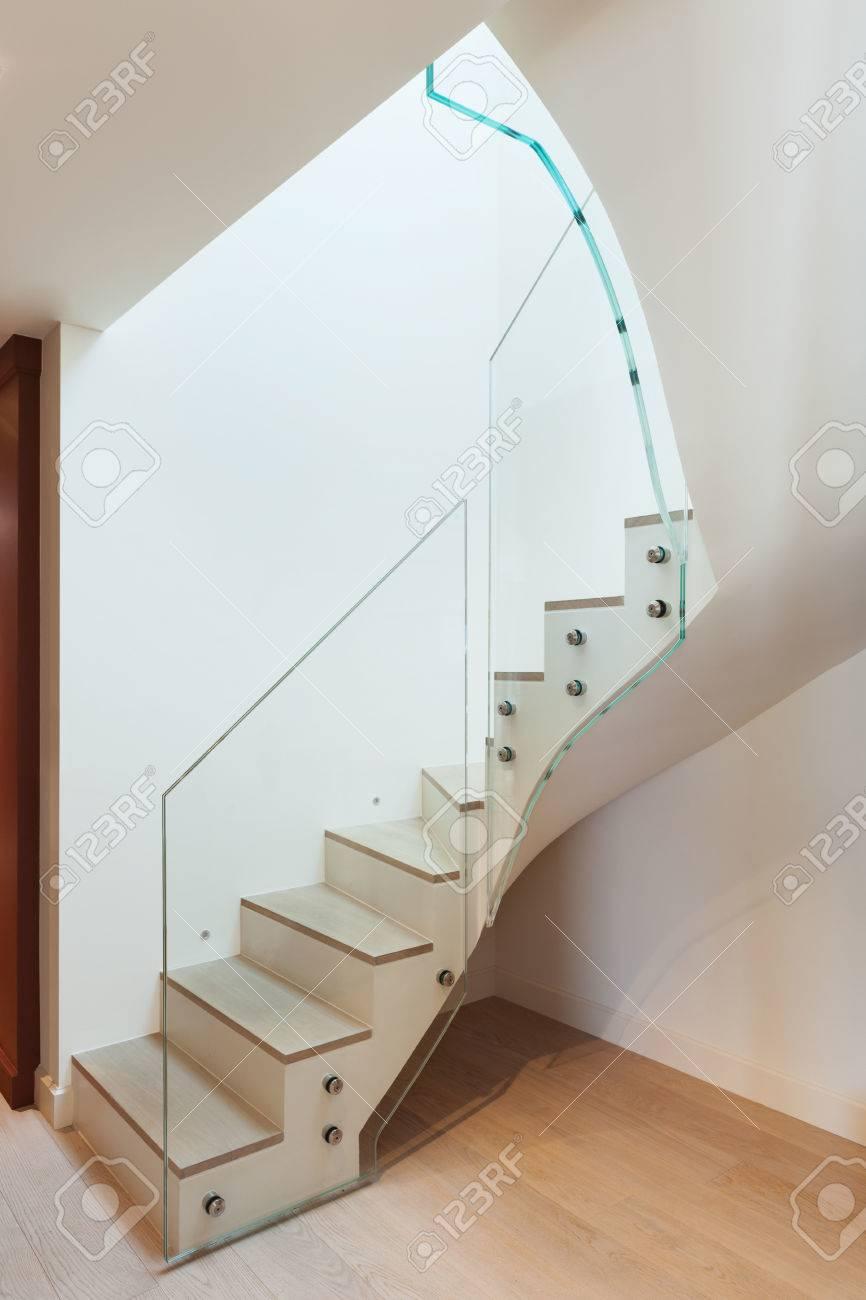 Moderne Architektur, Inneneinrichtung, Schönes Haus, Treppenhaus ...