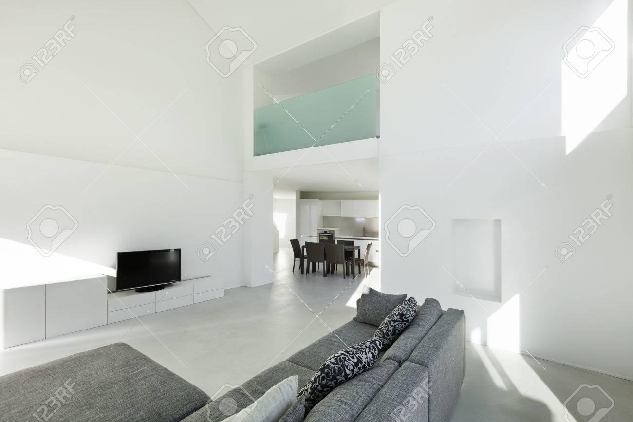L\'architecture, De L\'intérieur D\'une Maison Moderne, Salon Banque D ...
