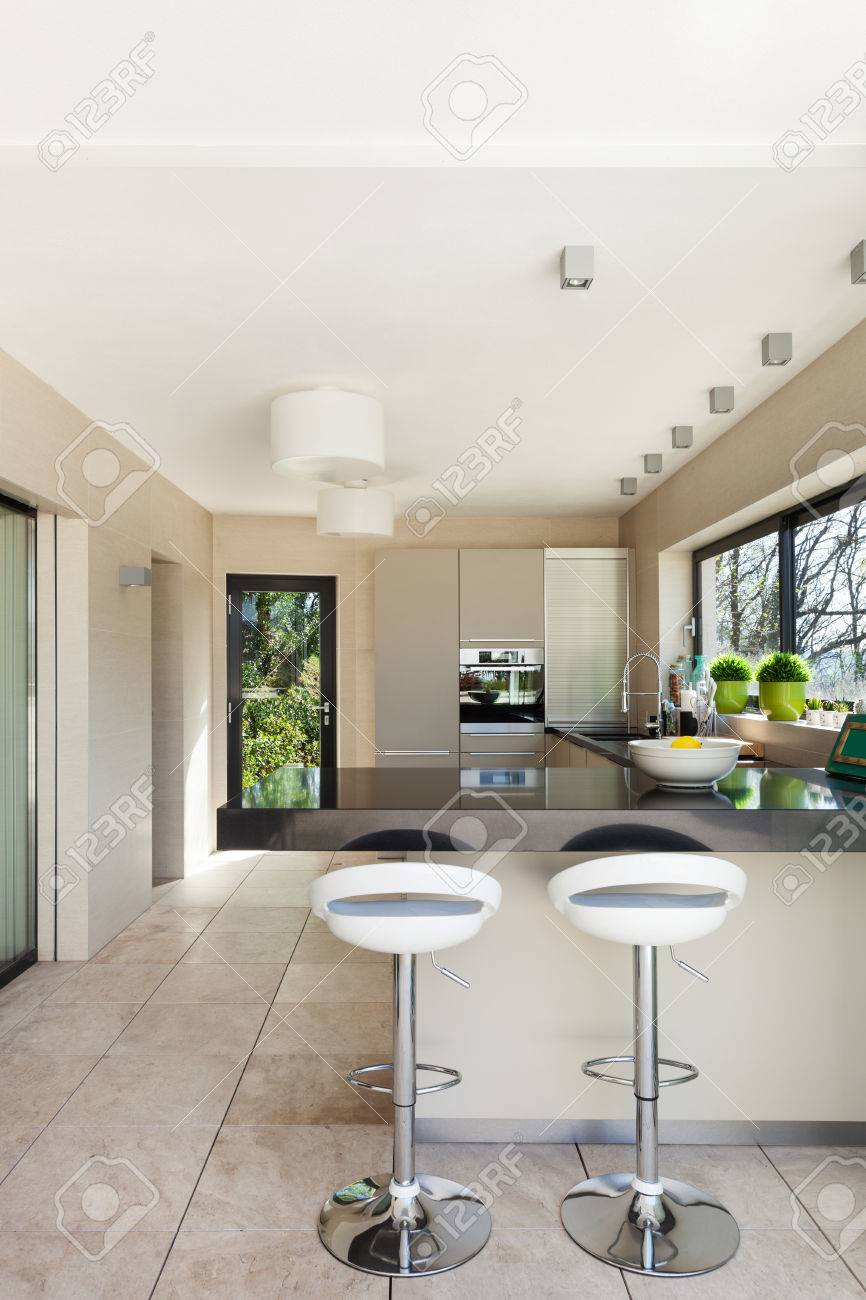 Modern House Beautiful Interiors Kitchen Stock Photo Picture And