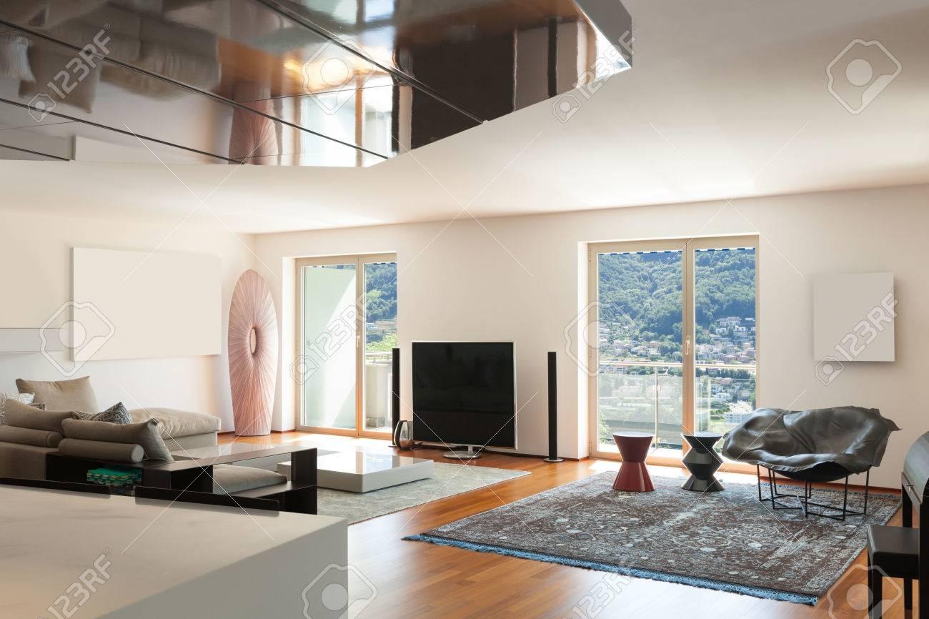 interior of apartment wide living room parquet floor stock photo rh 123rf com parquet flooring living room ideas parquet grey living room