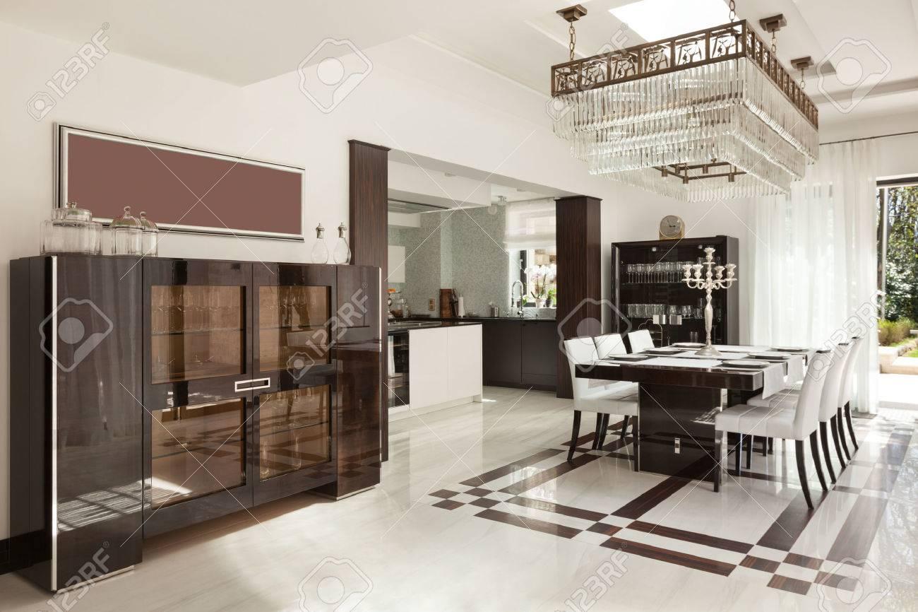 modern house beautiful interiors, dining room - 44078484