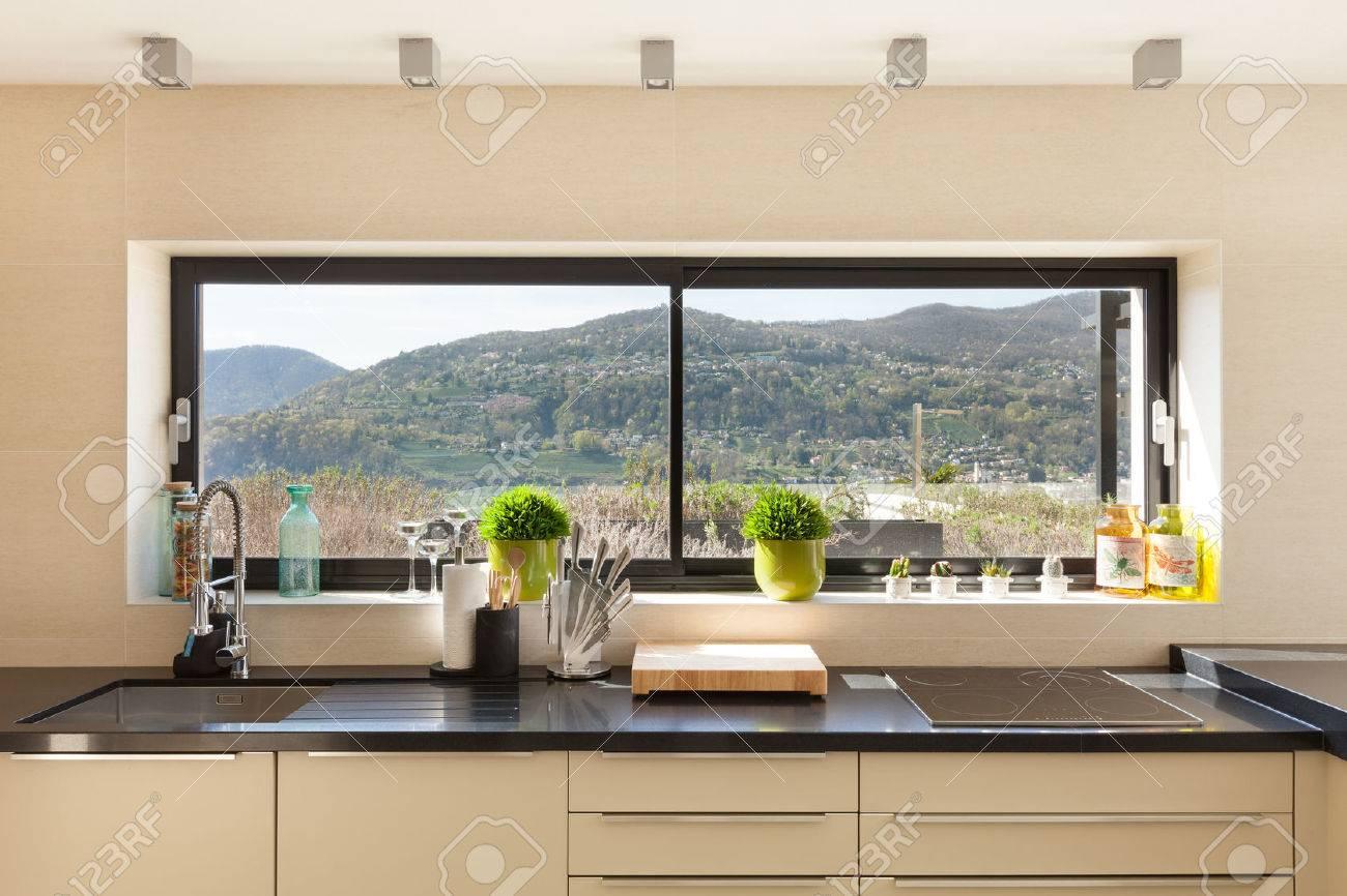 casa moderna, splendidi interni dettaglio di cucina Archivio Fotografico - 44078515