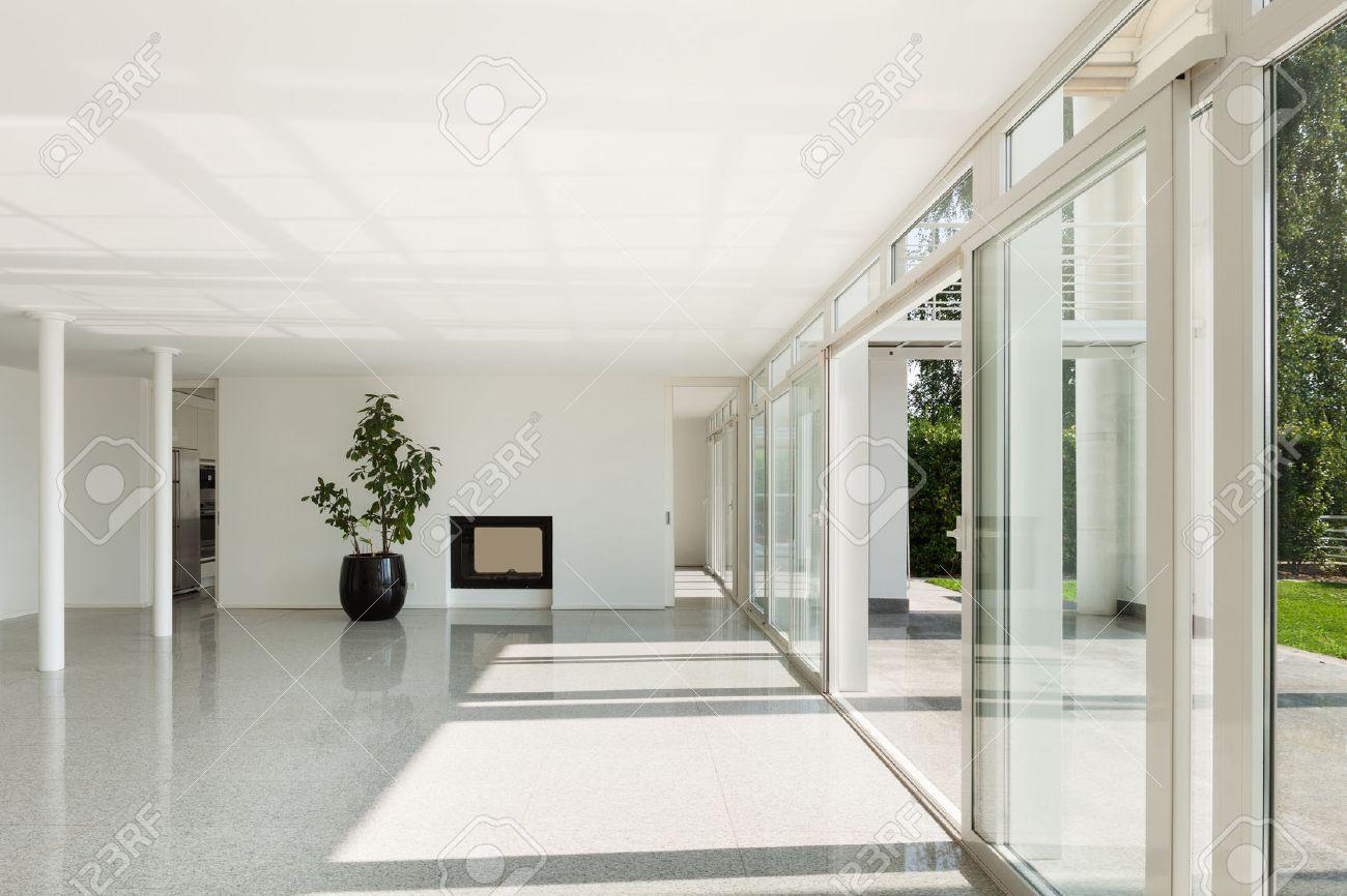 L\'architecture, De L\'intérieur D\'une Maison Moderne, Vaste Salon ...