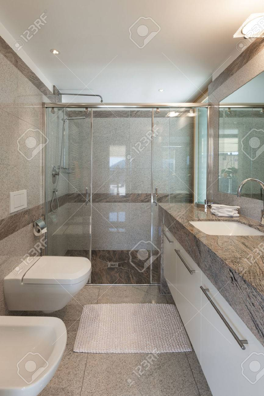 Interior Of A Modern Apartment Domestic Bathroom Stock Photo Picture And Royalty Free Image Image 46267202