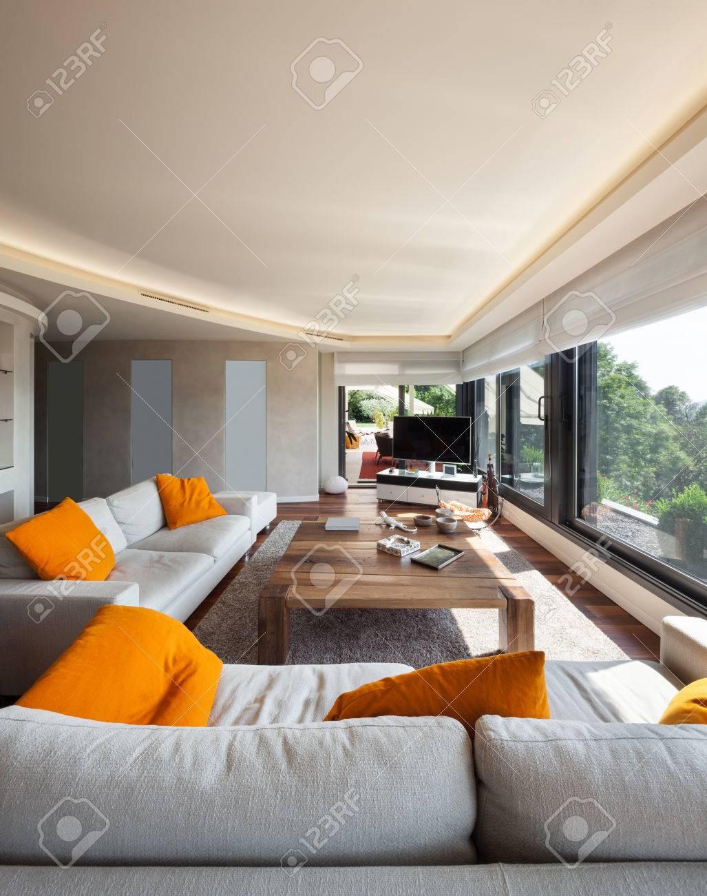 binnenlandse zaken, mooie woonkamer van een luxe appartement, Deco ideeën