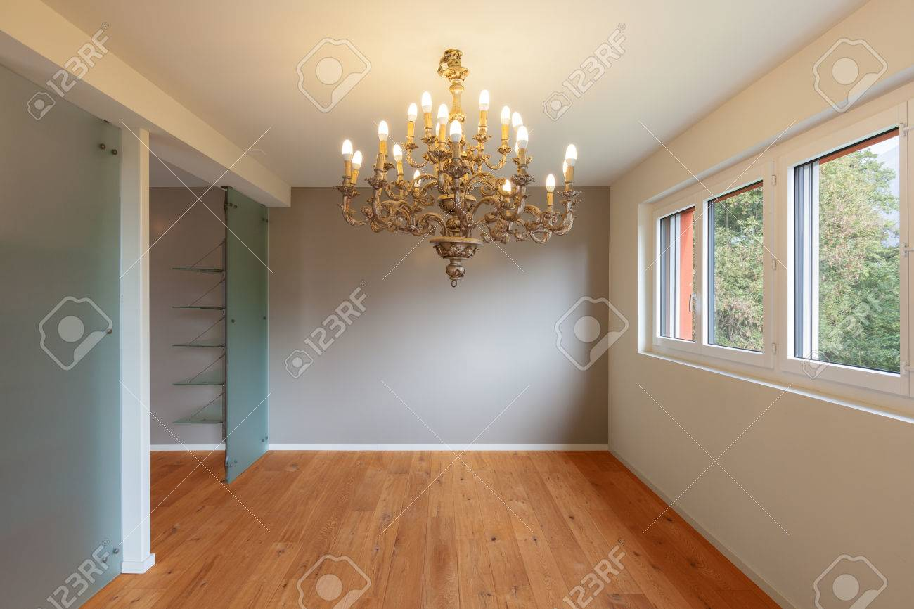Interior Of Modern Apartment, Without Furniture, Empty Stock Photo ...