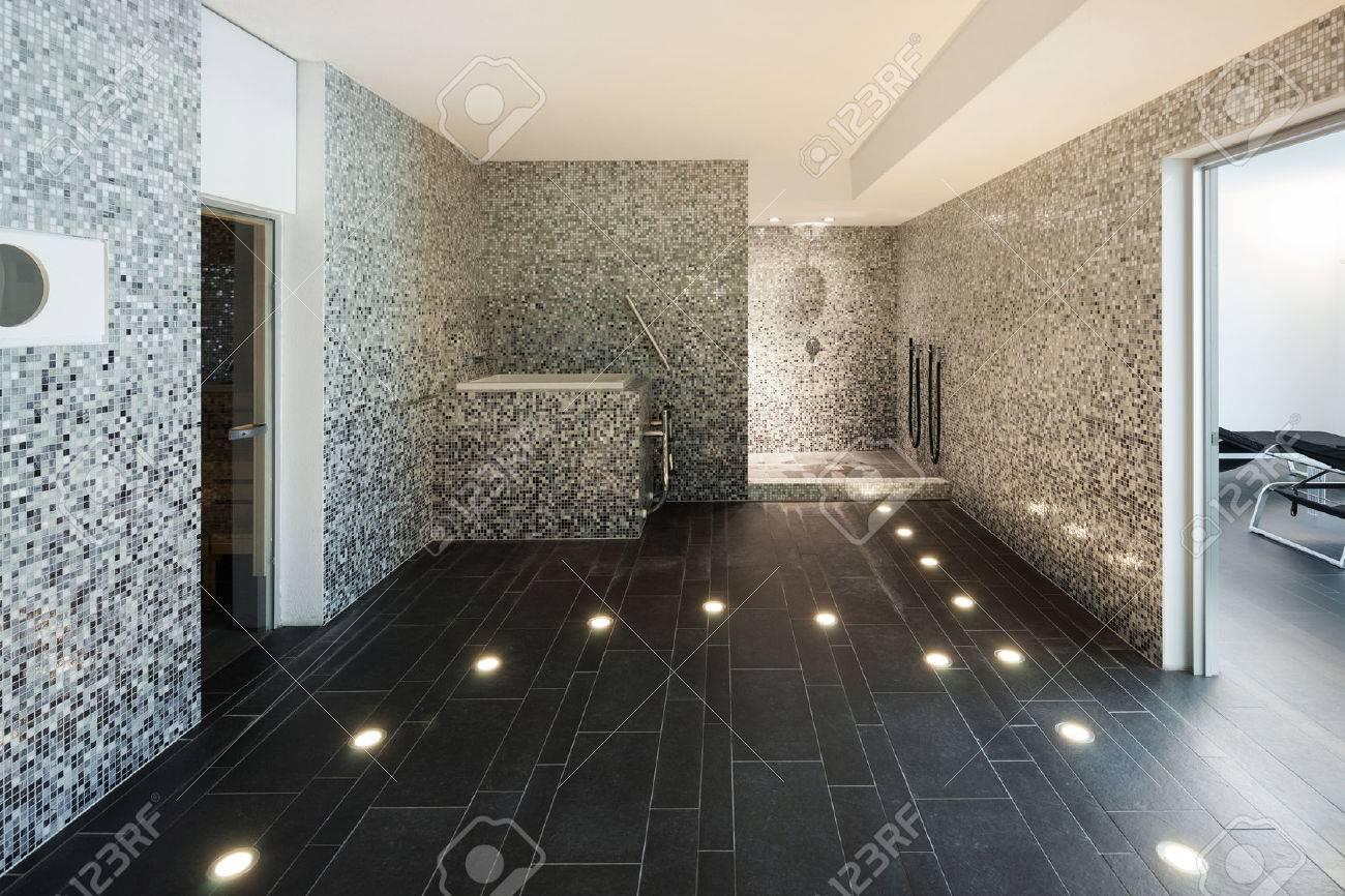 Interior of a modern house, turkish steam bath Archivio Fotografico - 49780966