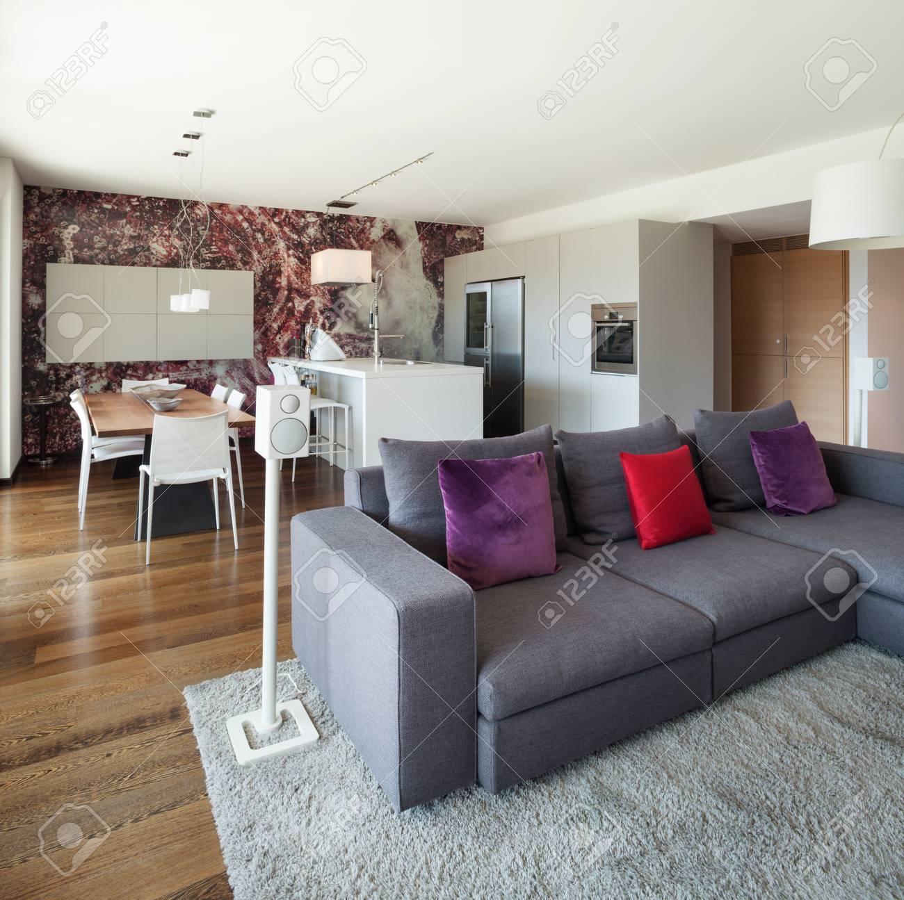 banque dimages intrieur de maison moderne beau salon meubl